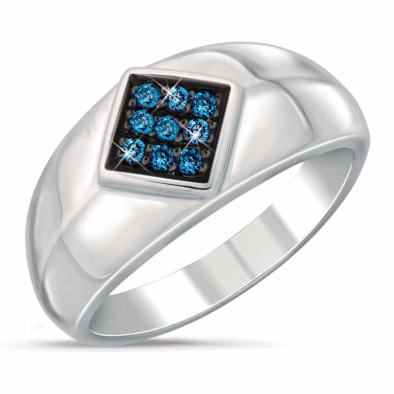 Midnight Blue Diamond Ring 9871 002 3 1