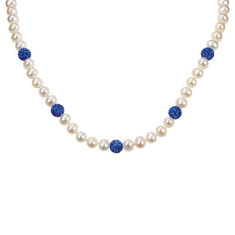 Bedazzled with Birthstones Pearl Necklace 5106 001 0 9