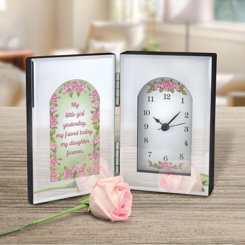 My Daughter Forever Mirror Desk Clock 6481 001 3 2