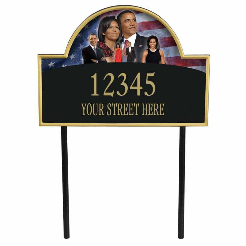 President Barack and Michelle Obama Personalized Address Plaque 1851 001 6 1