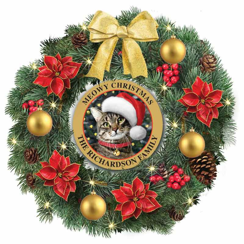 The Meowy Christmas Lit Wreath 6012 001 1 1
