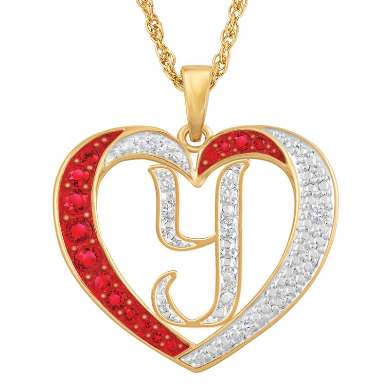 Personalized Diamond Initial Heart Pendant with FREE Poem Card 2300 0060 y initial