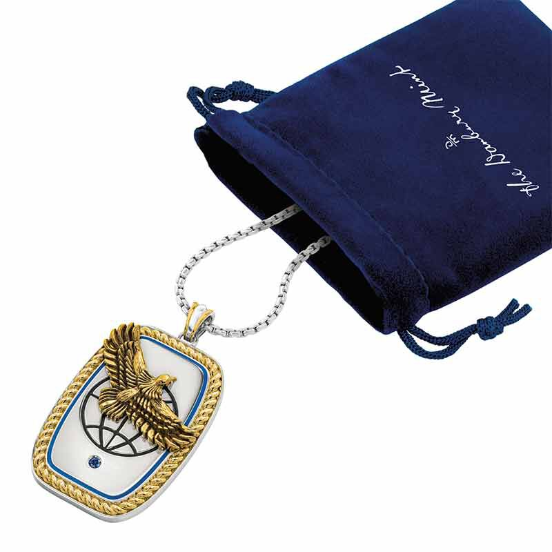 For My Exceptional Son Sapphire Eagle Pendant 6461 001 7 3