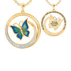 Strong Beautiful Loved Granddaughter Butterfly Pendant 10006 0011 a main
