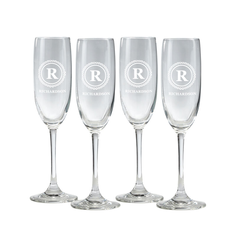 The Personalized Champagne Flutes 10036 0031 a main