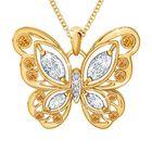 The Birthstone Butterfly Diamond Pendant 2030 001 8 11