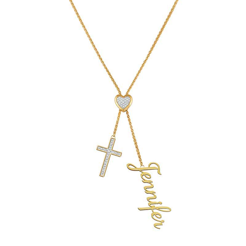 Personalized Cross Bolo Necklace 6513 001 5 1