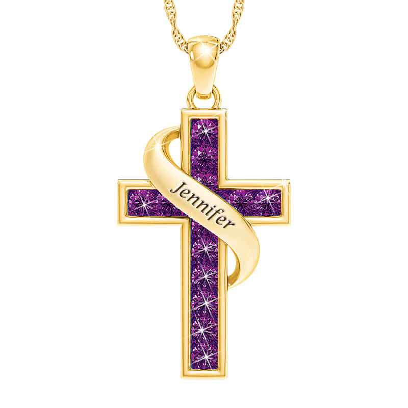 Personalized Birthstone Cross Pendant 5657 001 3 2