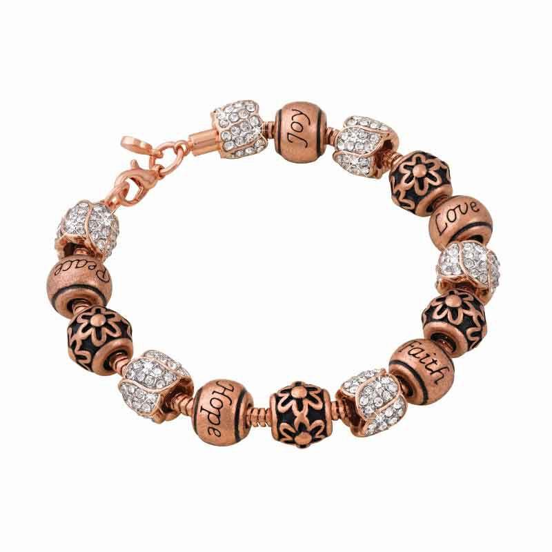 Natures Flourish Copper Charm Bracelet 5286 001 2 1
