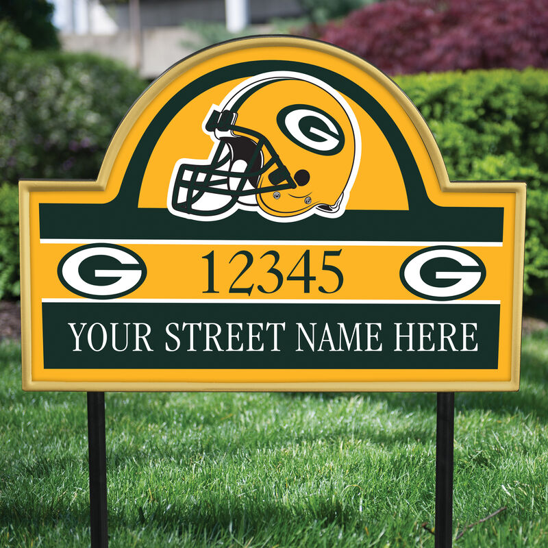 NFL Pride Personalized Address Plaques 5463 0405 b garden packers
