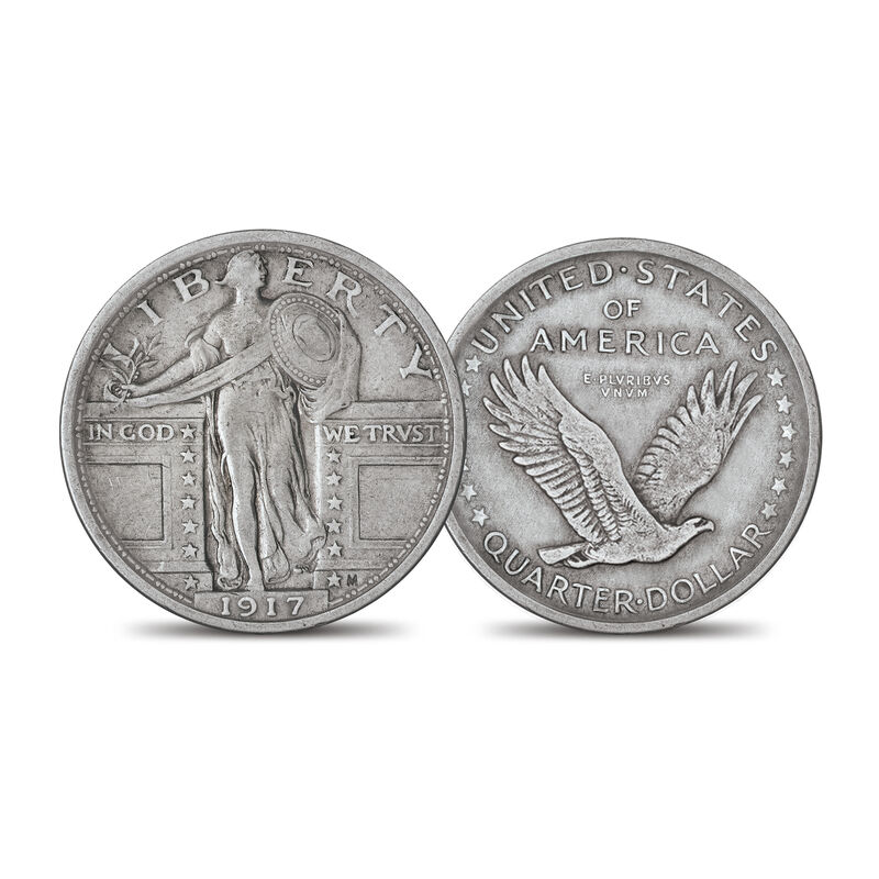 The 1917 Standing Liberty Silver Quarter Set 6811 0014 b type one
