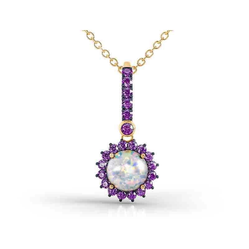 Perfectly Paired Created Opal Pendant with FREE Matching Earrings 4934 001 1 1