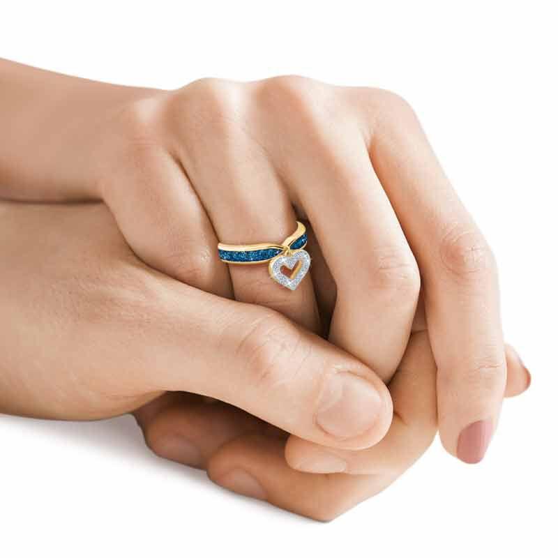 Birthstone  Diamond Charm Ring 2145 002 8 14