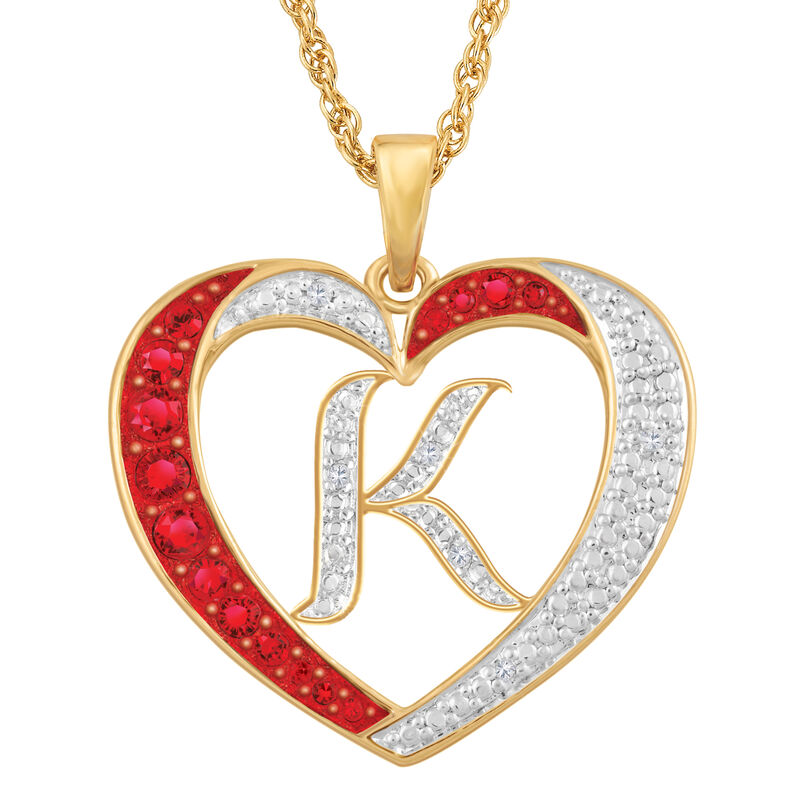 Personalized Diamond Initial Heart Pendant with FREE Poem Card 2300 0060 k initial