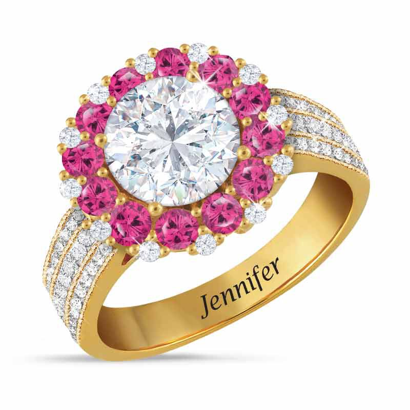 Birthstone Beauty Diamonisse Halo Ring 4924 001 3 10