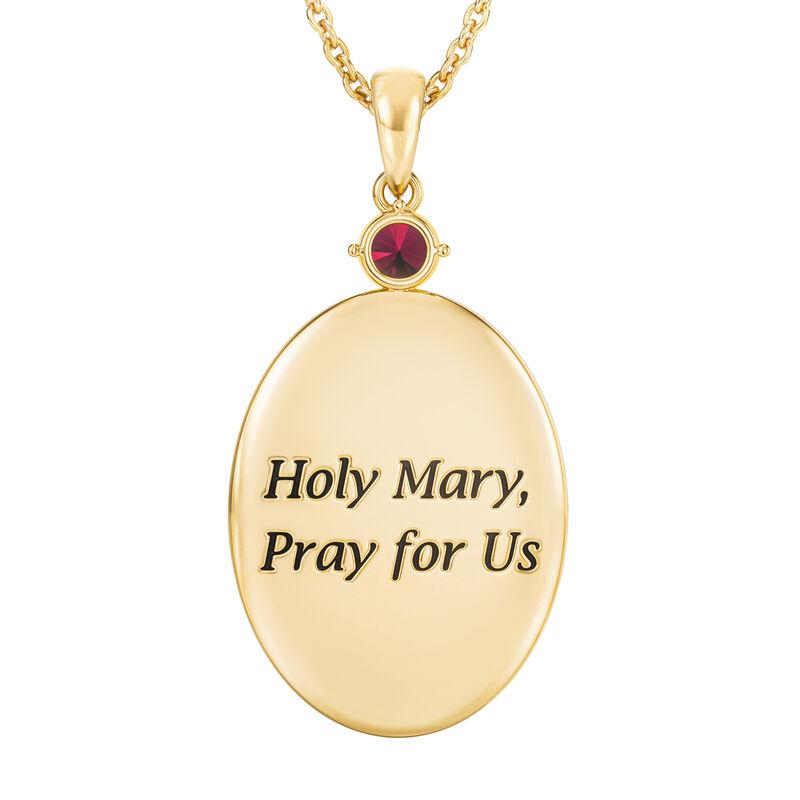 Virgin Mary Diamond Pendant 10202 0013 c back