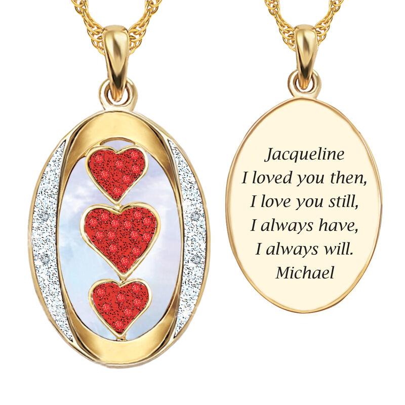 I Love You Custom Birthstone and Diamond Pendant 10702 0018 g july