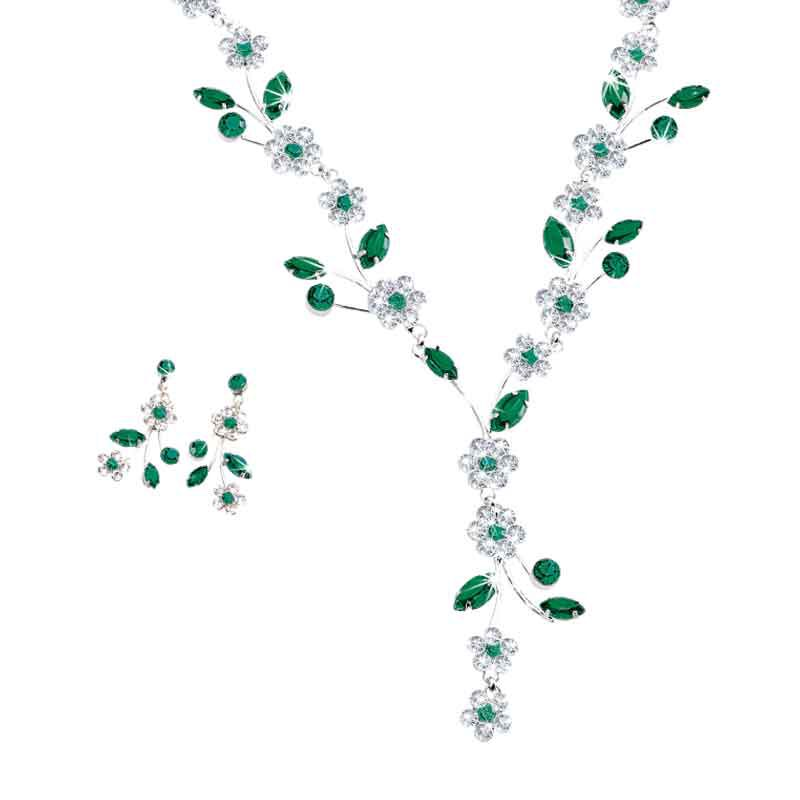 Birthstone Blooms Crystal Necklace 1398 001 6 5
