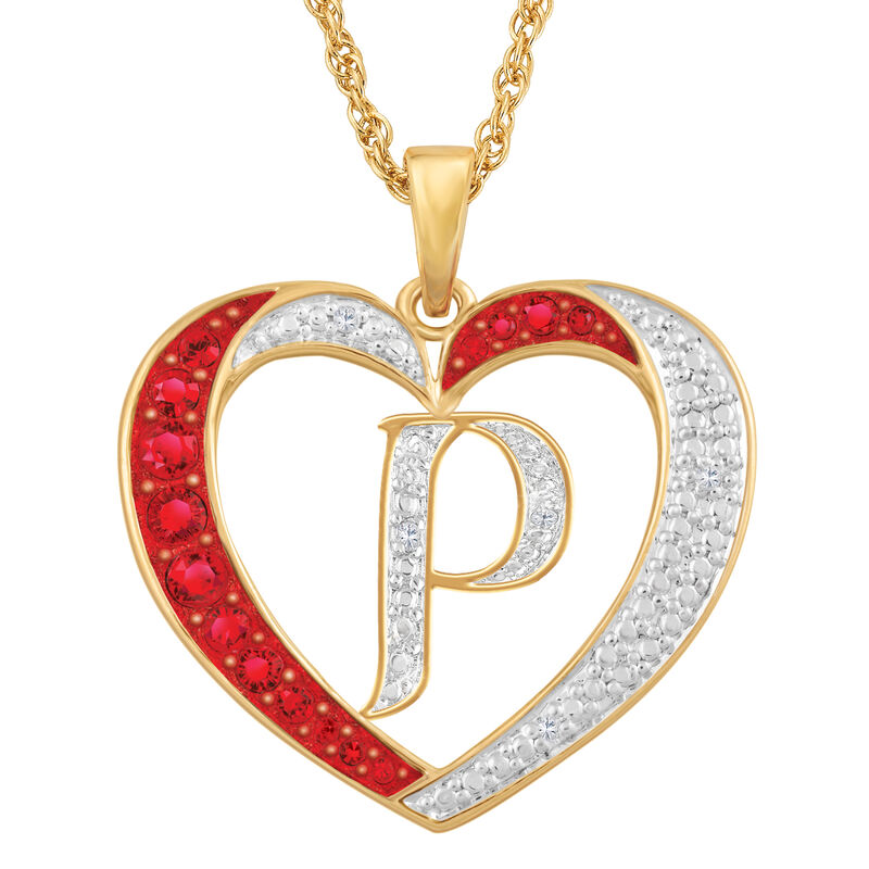Personalized Diamond Initial Heart Pendant with FREE Poem Card 2300 0060 p initial