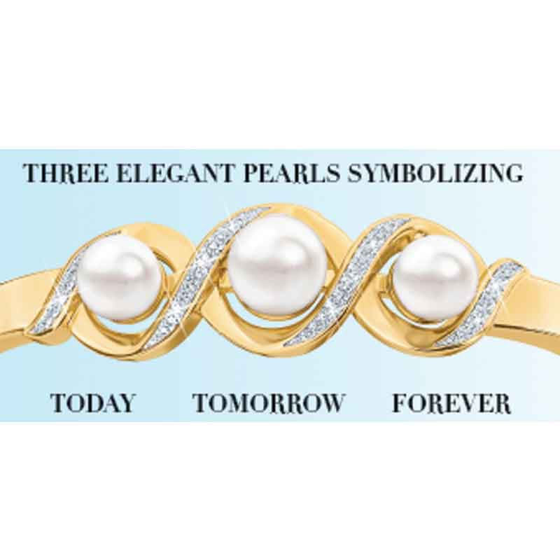 My Daughter Forever Pearl  Diamond Bracelet 2188 001 8 2