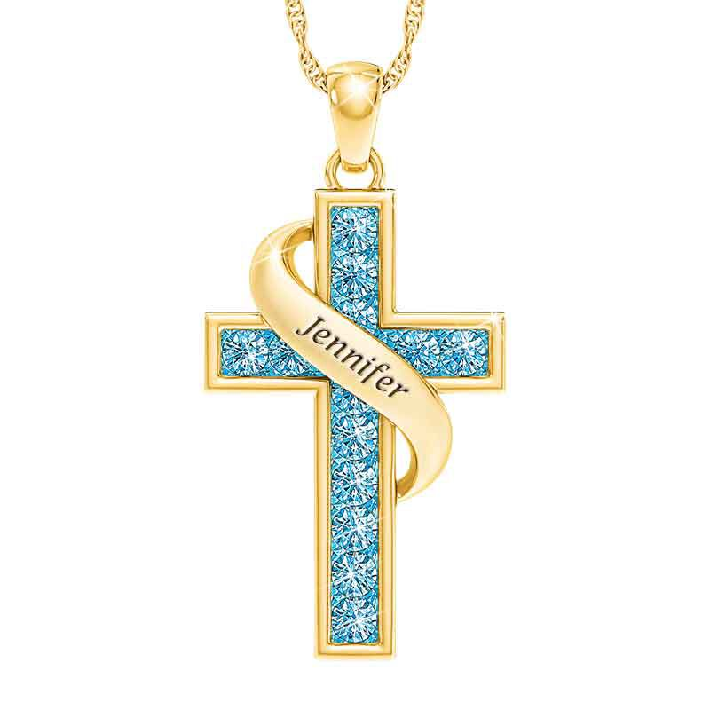 Personalized Birthstone Cross Pendant 5657 001 3 3