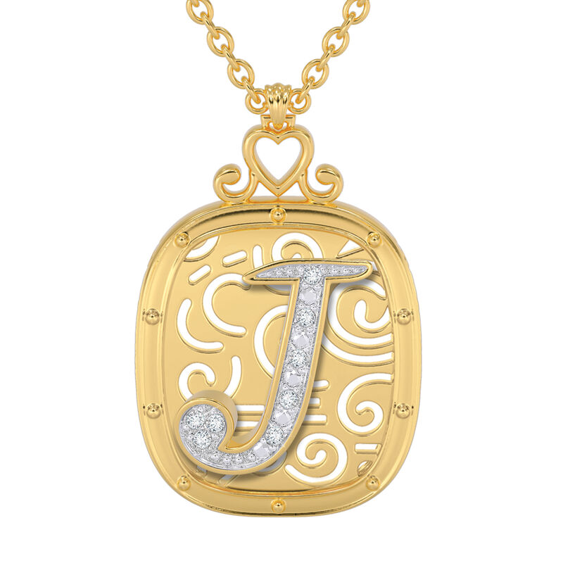 The Diamond Initial Pendant 6923 0019 a main