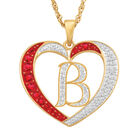 For My Daughter Diamond Initial Heart Pendant 10119 0015 a b initial