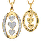 My Daughter I Love You Personalized Diamond Pendant 2965 0165 b front reverse pendant