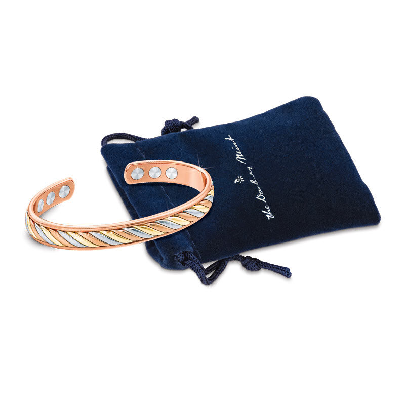 Copper Trinity Braided Magnetic Bangle 2135 001 2 2