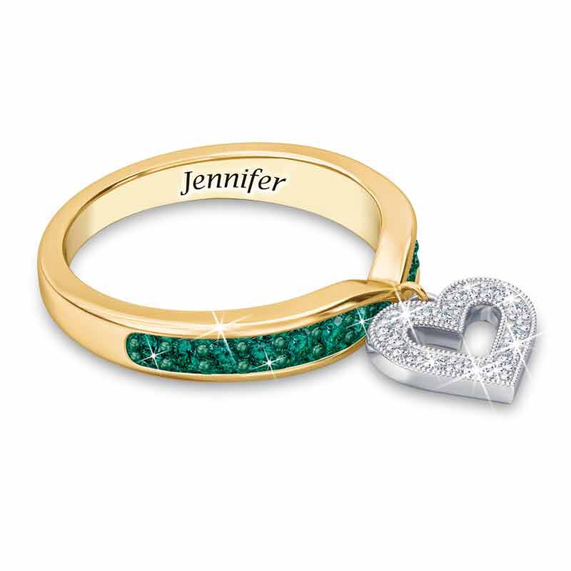 Birthstone  Diamond Charm Ring 2145 002 8 5