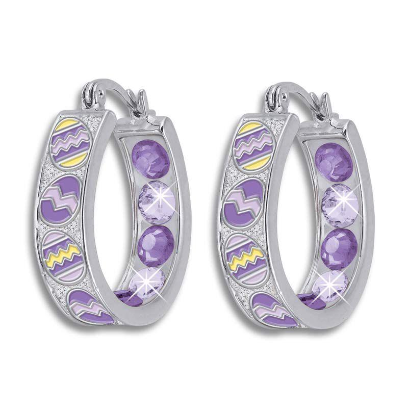 Crystal Celebrations Hoop Earrings 4608 002 4 9