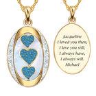 I Love You Custom Birthstone and Diamond Pendant 10702 0018 l december