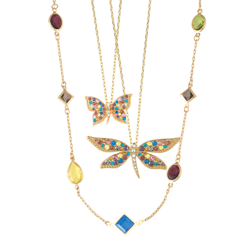 Flights of Fancy Crystal Necklace Set 10055 0011 b necklace
