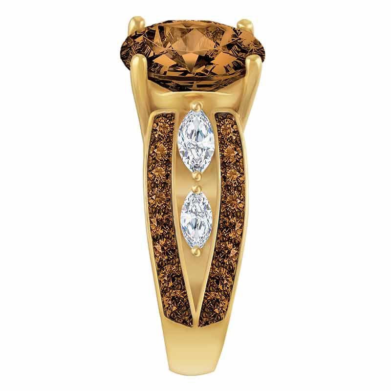 Mocha Majesty Personalized Ring 4921 001 6 2