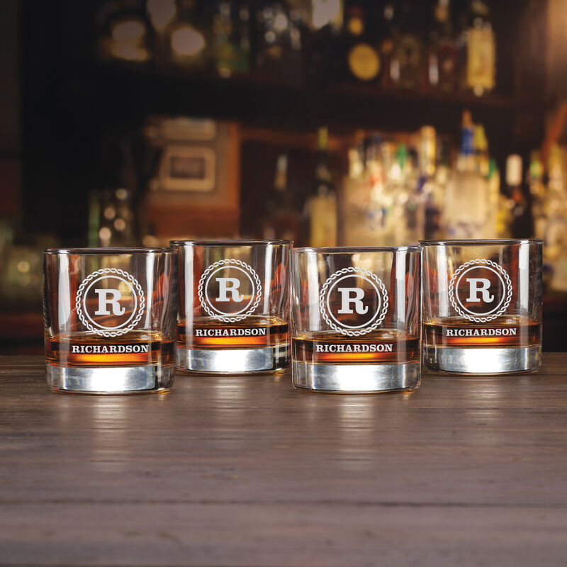 The Personalized Set of Four Lowball Glasses 5647 0016 a main