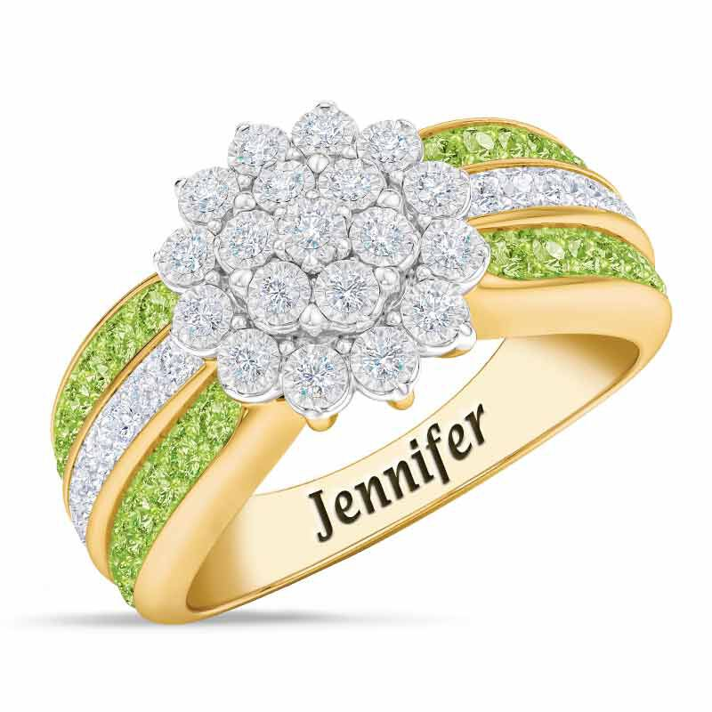 Personalized Birthstone Radiance Ring 5687 003 3 8