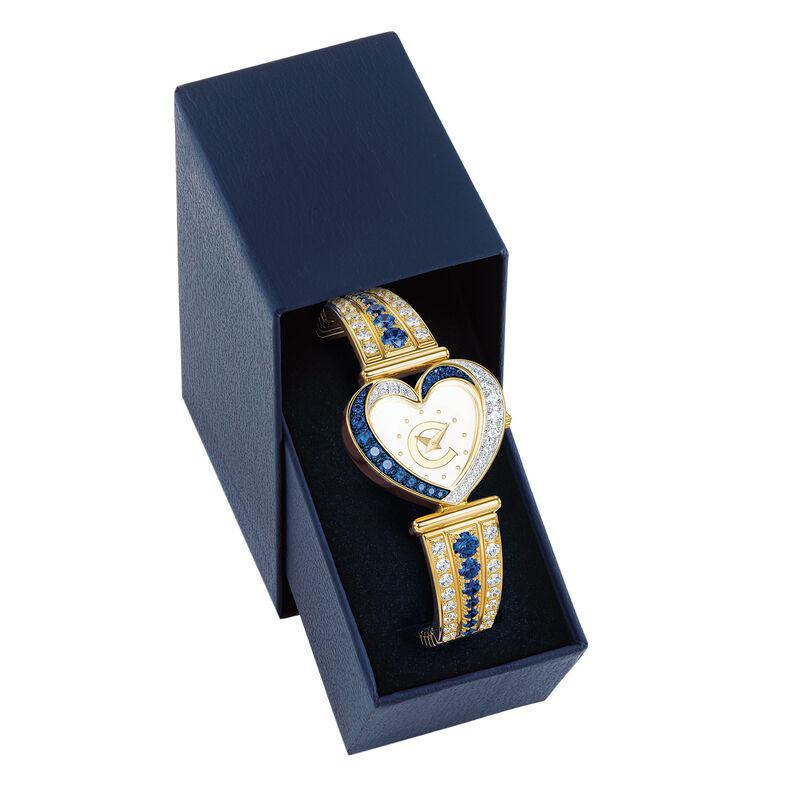 Womens Birthstone Initial Heart Watch 10332 0016 n box
