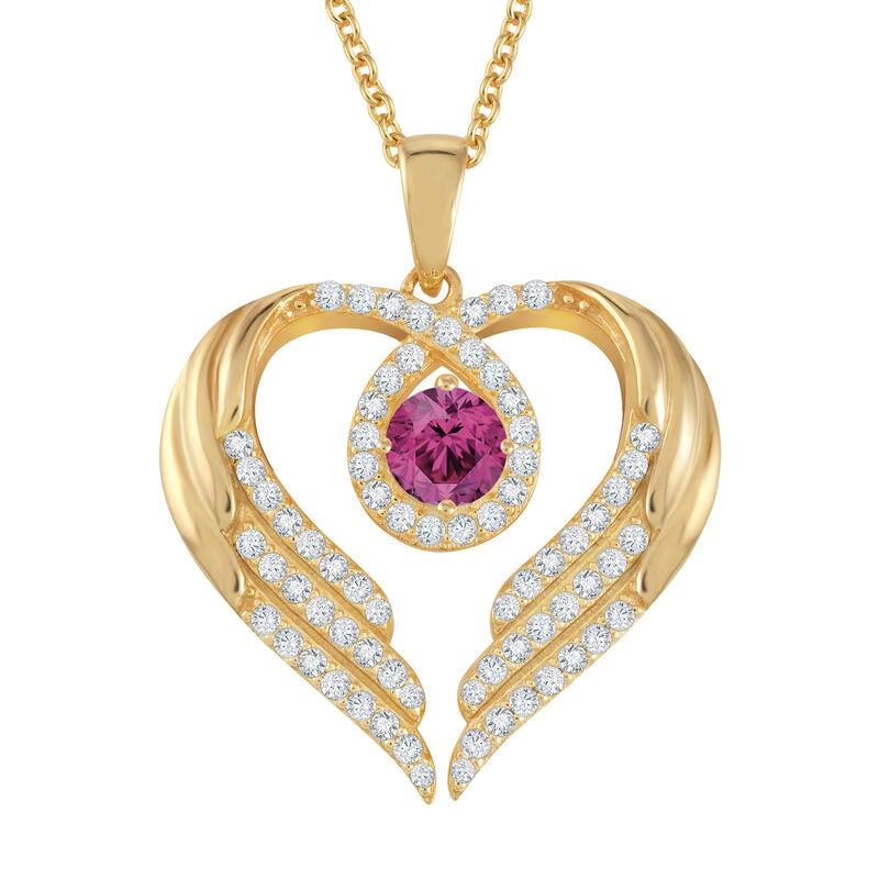 Birthstone Pendant Angel Heart Wing 6721 0013 f june