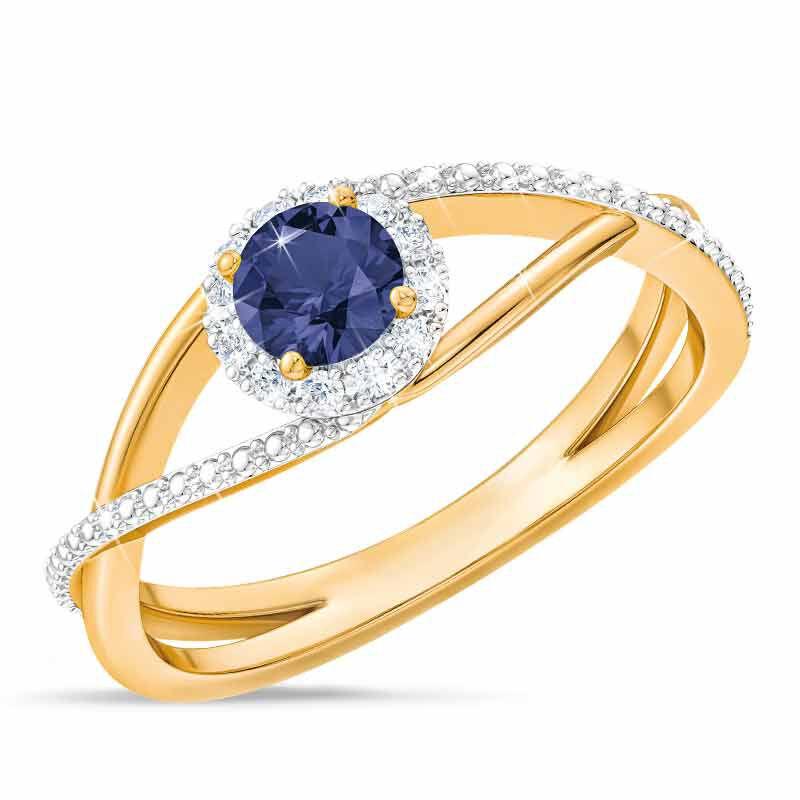Birthstone  Diamond Ring 1099 001 8 9