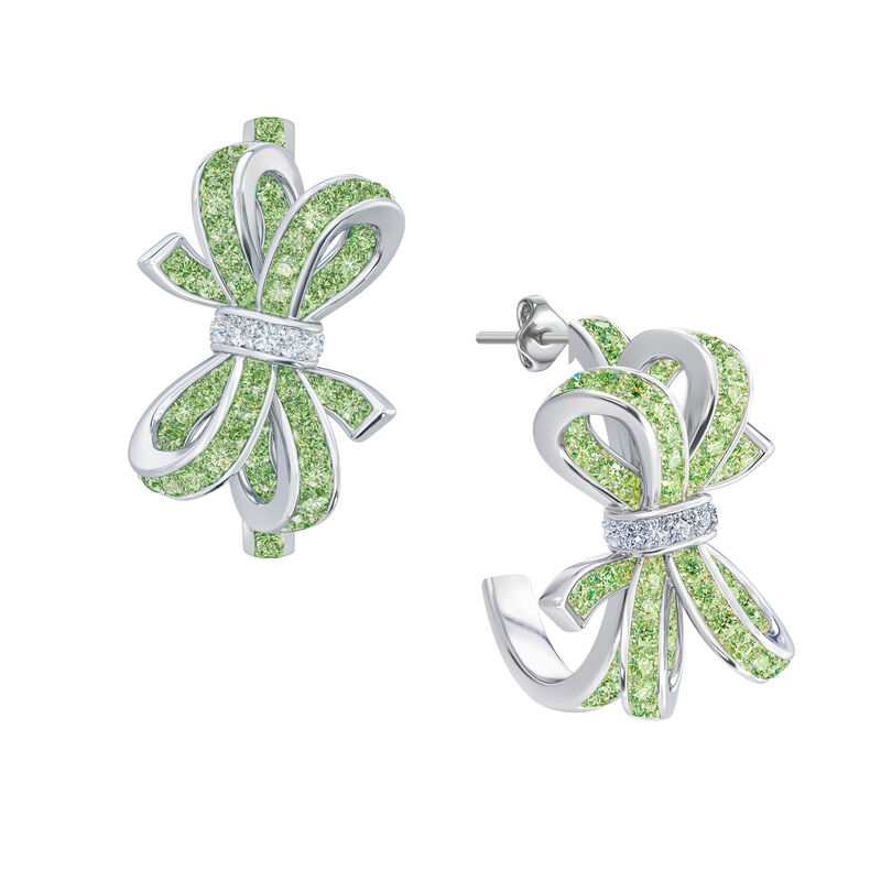 Birthstone Diamond Bow Earrings 1876 0066 h august