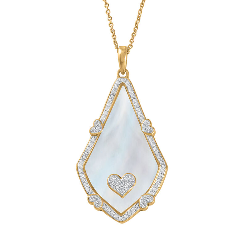 Yesterday Today Always Personalized Teardrop Pendant 6895 0013 b front