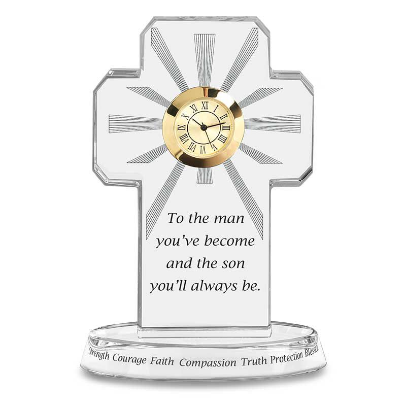 For My Blessed Son Crystal Desk Clock 6081 001 7 1