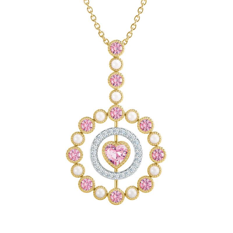 Love Embrace Birthstone Diamond Necklace 6928 0014 j october
