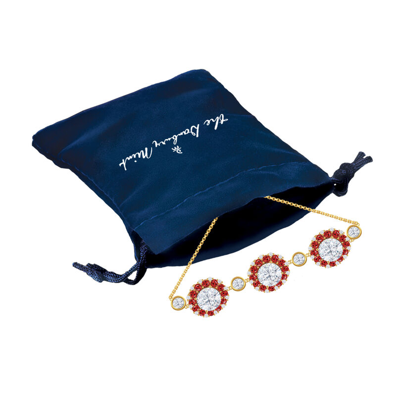 Birthstone Beauty Diamonisse Halo Bolo Bracelet 4924 0054 g gift pouch