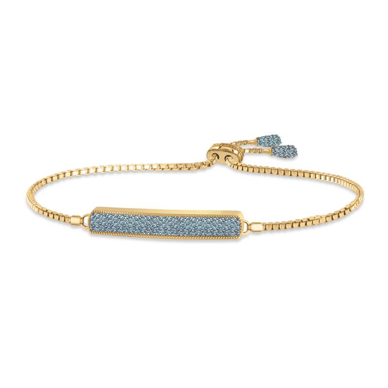 Birthstone Bolo Bracelet 6501 0027 c march