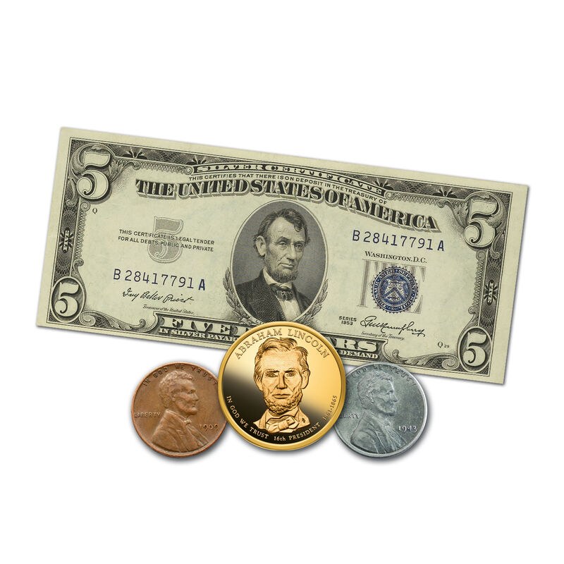 Abraham Lincoln Coin and Currency Set 6159 0014 a main