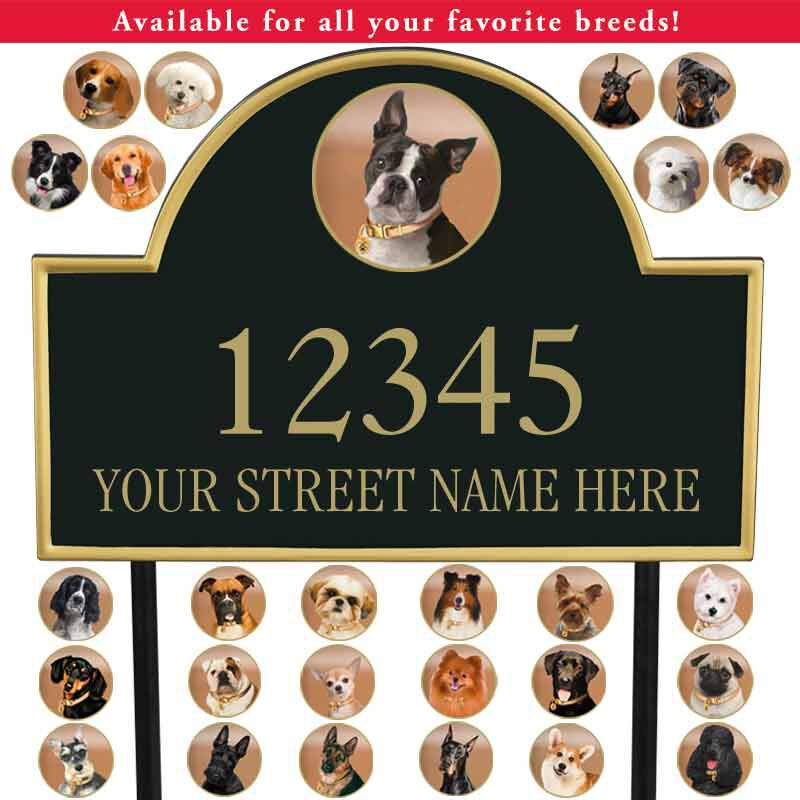 The Dog Personalized Address Plaque 5713 025 4 1