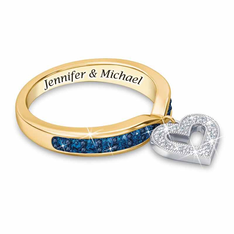 My Love Birthstone  Diamond Charm Ring 2145 001 0 9