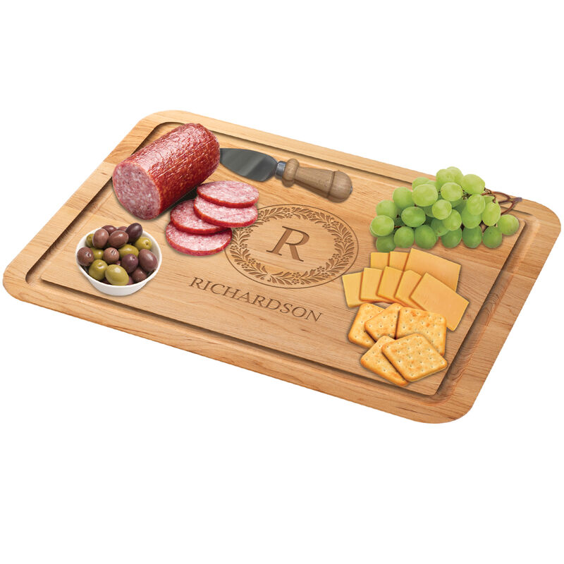 The Personalized Maple Cutting Board with Free Knife 1468 0037 c meat with cheese