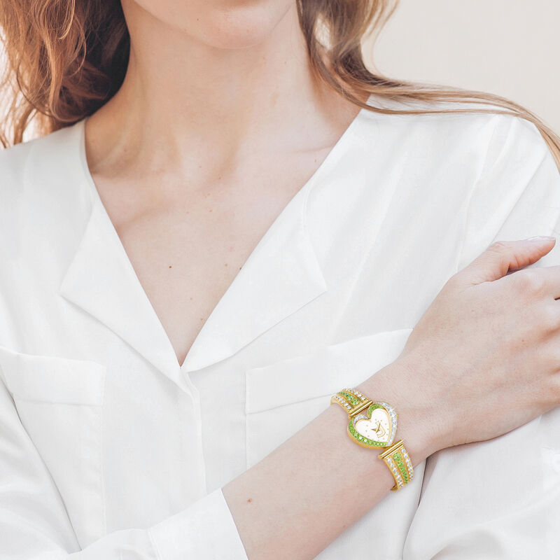 Womens Birthstone Initial Heart Watch 10332 0016 m model